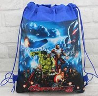 Wholesale 30pc new style Christmas Non woven Avengers Backpacks Printed School bag shopping bag Party Favors nice gift design A01