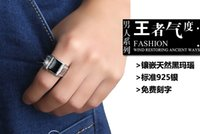 black onyx rings - The men s Silver Black Onyx Ring Ring size single domineering personality trendsetter