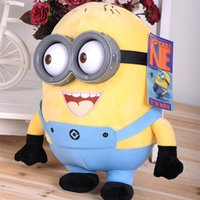 Wholesale 18cm minion toys despicable me Creative Minions D eyes yellow doll soybeans doll plush toys Buddies Soft Huggable Friends Minion Dave Plush