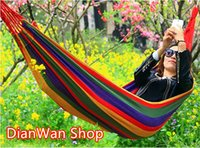 Wholesale Indoor Furniture Hammocks Single Camping Hunting Swing Garden patio Sleeping Hammock Outdoor Rope Bed Garden Swing Tourism Rede