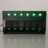 Wholesale Audew V LED Car Marine Boat Rocker Switch Panel Gang Boat LED Switch Rocker Panel