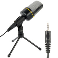 al por mayor video karaoke-Profesional Podcast Studio micrófono w / Stand Skype Webcast Youtube Video 3.5mm jack The Stand envío gratuito