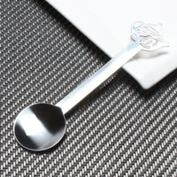 Wholesale stainless steel pot head coffee spoon dessert spoon coffee spoon stirring spoon teaspoon Creative