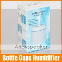 Wholesale Mini USB Bottle Caps Humidifier Work LED Display Clean Air with USB Cable and Water Diversion Cotton Original Authentic