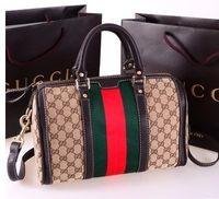 brand handbag - Aging brown white color three styles of handbags Messenger bag European and American fashion brand designer leather handbags