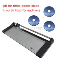 "Cheap 24inch 620MM Rotary Paper Trimmer Cutter Office Supplies Brand New 14"" 350mm Manual Rotary Paper Cutter Portable Trimmers +3 Blade High Qual"