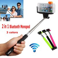 Wholesale Wireless Bluetooth Tripod Handheld Monopod Selfie Stick with Remote Button Clip Holder For iPhone Samsung IOS Android Smart Mobile Phone