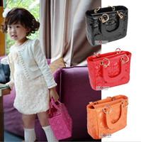 Wholesale New Arrive Candy Colors Size cm Quilting Children s Handbag Children School Bags for Girls Women Mini Messenger Bag for Kids