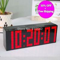 electronic clock timer - Modern Digital Large Big Jumbo LED Digital Alarm Clocks Snooze Wall Countdown deskstop table electronic flip clock Timer Clocks