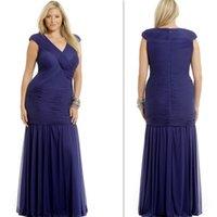 Cheap Reference Images Royal Blue Evening dresses Best A-Line V-Neck Sheer Evening dresses