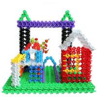 Wholesale Multicolor Kids Snowflake Building Puzzle Blocks Educational Xmas Toys Bricks DIY Assembling Classic Toy