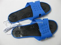 al por mayor sex machine female-Mujer Eléctrico Electro Choque Pies Cuidados Terapéuticos Massager Zapatillas Accesorios para TENS / EMS Máquina BDSM Bondage Gear Juegos de sexo para adultos Juguetes
