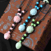 ceramics - Jingdezhen Ceramic jewelry fashion jewelry necklace candy colored fresh female long sweater chain Hot