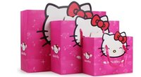 Cheap New arrival birthday party supplies hello kitty paper bags gift bags hand bags high quality 12pcs lot
