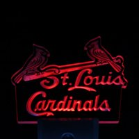 Wholesale ws0105 St Louis Cardinals Bar Pub Day Night Sensor Led Night Light Sign