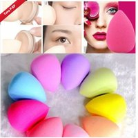 Wholesale 100pcs Face Bottle Gourd Sponge Flawless Smooth Pro Beauty Makeup Powder Puff Colour Women Gift