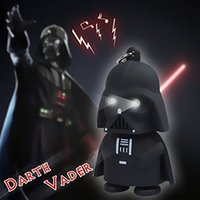 Wholesale Christmas Gifts Star Wars Darth Vader Keychain Accessories LED Luminous Music Light Sound Keyring Creative Chain Key Flashlight Pendant Lamp