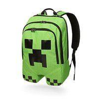 Wholesale quot Hot selling quot Minecraft Bag Minecraft Creeper Backpack Creeper school bag Green Color In Stock