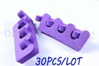 Wholesale 60Pcs Soft Finger Toe Separators Pedicure Nail Art Tool Purple Styling Tools Nail Tools Opp Packing JZ109