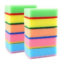 Wholesale magic sponge eraser kitchen toilet Household cleaning multicolour Sponges Scouring Pads