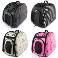 dog carriers - 4 Colors Foldable Small Dog Carrier Bag Breathable Pet Travel Crate EVA Cat House