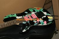 Wholesale Custom Shop Flower Left Handed Electric Guitar New Arrival guitars high quality cheap