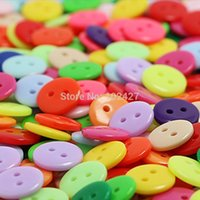 Wholesale 100Pcs mm DIY Resin Buttons Lovely Mini Round Shape Sewing Clothes Button For Crafts Scrapbooking Sewing Accessories Botones