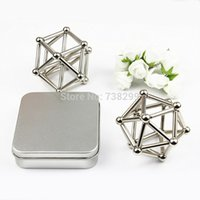 Wholesale mm Magnet Balls mm Magnet Bars Neodymium Puzzle Magic Cube Magnetic Balls Magnet Toy for Education Silver