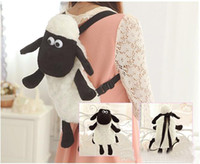 Wholesale Hot Sale Sample Order cm Shaun The Sheep Backpack Cartoon Movie Soft Plush Backpacks Children Toys Backpack