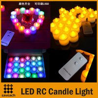 Wholesale Christmas Cakes Candles - Remote Control LED Candle Light Electronic Candle Night Light Smokeless Flameless RC LED Candles For Wedding Candles Birthday Party