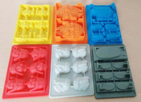 Wholesale 6pc Star Wars Ice Tray Silicone Mold Ice Cube Ice Cream Makers Chocolate Fondant Mould