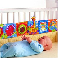 Wholesale New Infant Baby Kid Crib Gallery High Contrast Development Puzzle Zoo Cloth Book Toy