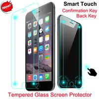 apple iphone returns - Smart Touch Tempered Glass Screen Protector film for iPhone plus explosion Proof Glass Smart film with Confirm and Return Shortcut keys