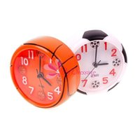 Wholesale Creative Cute Football Basketball Ball Style Desk Round Mini Home Alarm Clock
