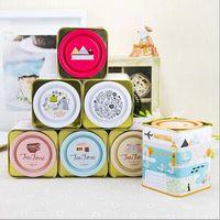 Wholesale Free ship pc Big skid cover tea pot British style tin box tinplate Iron tea can caddy