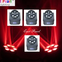 auto mobile club - 4pcs x12w Osram led bee eyes beam wash moving head Quad RGBW color rotate CH CH DMX SOUND AUTO for night clubs dj mobile shows