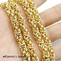 Wholesale Top Quality cm mm k Gold Chain Huge Heavy Long Rope L Stainless Steel Men s Chain Necklace Link KN168