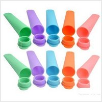 Cheap Popsicle Silicone ice pop mold mould Silicone ice pop maker Push Up Ice Cream Jelly Lolly Pop 0902#02