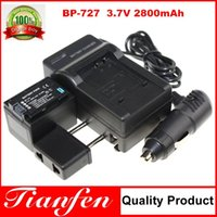 Wholesale 1pc BP BP727 BP Camera Battery Charger Car Charger For Cannon VIXIA HF M500 M52 R300 R32 LEGRIA HF R36 R38 R306 M506