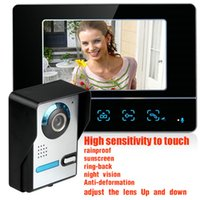 Wholesale Rainproof Inch HD LCD TFT Screen Night vision Colorul Video Intercom Doorbell Doorphone monitor SY811FA11