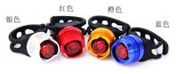 Wholesale 2pcs Led Bike Bicycle Cycling Front Rear Tail Helmet Safety Flash Light Warning Lamp