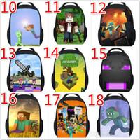 picnic backpack - Trendy Game Mincraft school bags kids Backpack bag small creeper lunchbox for boys children picnic bag Backpack creative backpack Steve bag