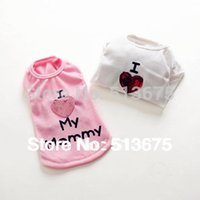 apparel special sizes - Special quot Love my Mommy quot summer dog vest clothes pet Puppy clothes dog XXL Sizes Cute White Mommy Apparel