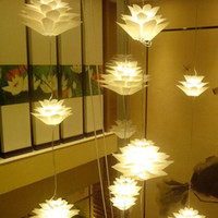 Wholesale DIY Creative novel Modern pinecone PP PVC Pendant Lampshade CM led lotus light iq puzzle lamp for Creative Home Decoration