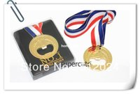 beer olympics - 200pcs London Olympics gift Specially Designed gold medal Bottle Opener Ring beer bottle opener