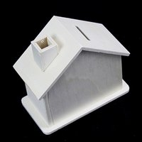 Wholesale Lin Fang gDIY handmade art and craft wooden chalet house piggy This clay Baipi Gingerbread House