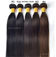 Wholesale 100g pc Natural straight weave Brazilian Hair Bundles Malaysian Peruvian Hair Extensions Unprocessed Virgin Hair