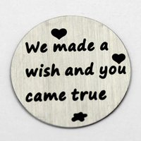 Wholesale 22MM we made a wish and you came true locket window plates glass locket memory locket