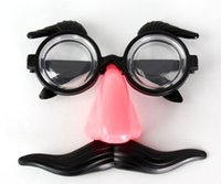 Wholesale Christmas Red nose glasses clown Christmas party funny props whimsy magic ball bar face