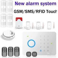 Wholesale DHL Chuango G5 MHZ GSM SMS Quad band RFID Touch Security Alarm System Touch Keypad GSM Phone SMS Wireless